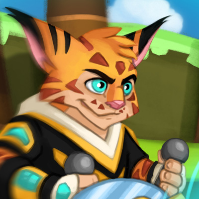 Furious Lynx - Cartoon illustration of a playable character for the video game Furious Bounce