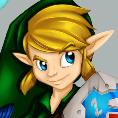 Link - Fan Art of the heroes of the video game Zelda