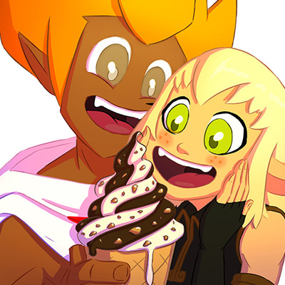 Evangelyne et Tristepin - Fan art et illustration cartoon de Tristepin et Evangelyne le couple phare de la série animée Wakfu