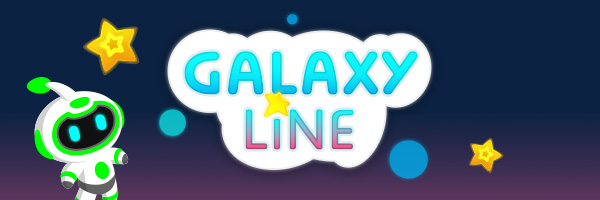 Galaxy Line project, cartoon and fun mobile video game